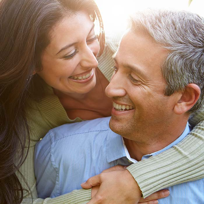 Couple Middle Aged Happy Healthy Square
